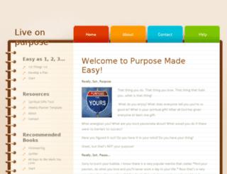 purposemadeeasy.com screenshot