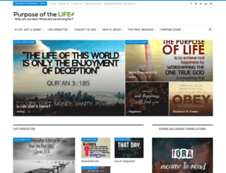 purposeofthelife.com screenshot