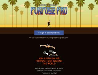 purposepro.justinbiebermusic.com screenshot