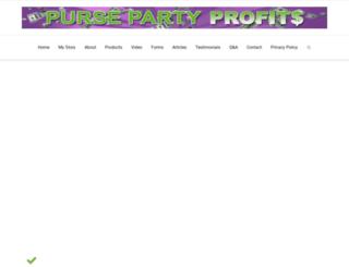 pursepartyprofits.com screenshot