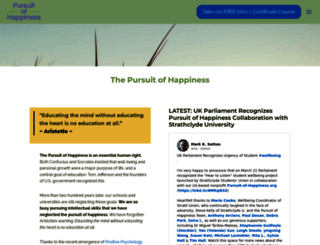 pursuit-of-happiness.org screenshot