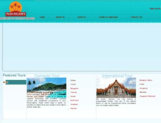 pusaholidays.co.in screenshot