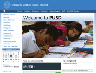 pusd.schoolfusion.us screenshot