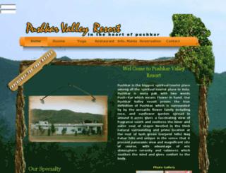 pushkarvalleyresort.com screenshot
