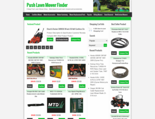 pushlawnmowerfinder.com screenshot