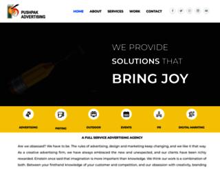 pushpakadvertising.com screenshot