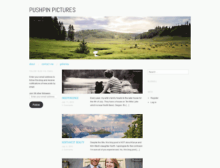 pushpinpictures.wordpress.com screenshot