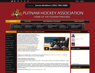 putnamhockey.com screenshot