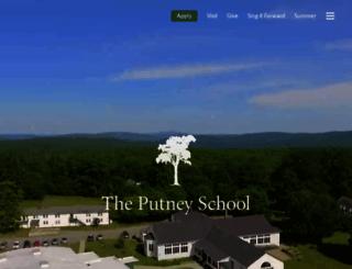 putneyschool.org screenshot