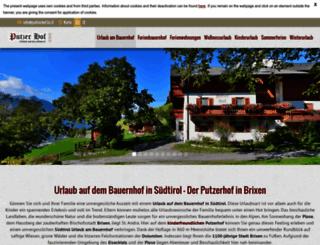 putzerhof.bz.it screenshot