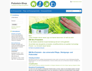 putzstein-shop.de screenshot