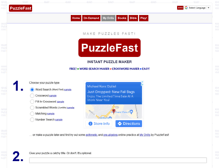 puzzlefast.com screenshot