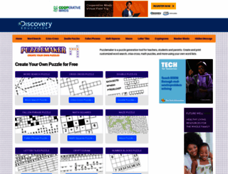 puzzlemaker.discoveryeducation.com screenshot