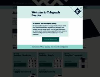 puzzles.telegraph.co.uk screenshot