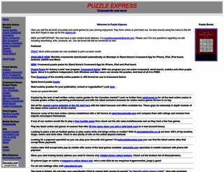 puzzlexpress.com screenshot
