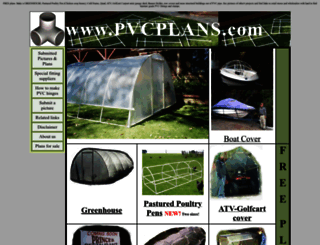 pvcplans.com screenshot
