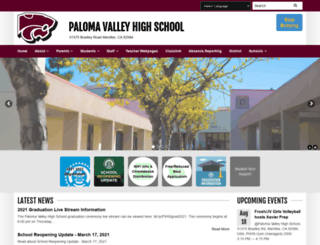 pvhs.puhsd.org screenshot