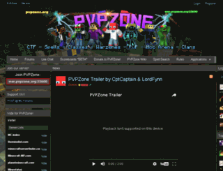 pvpzone.org screenshot