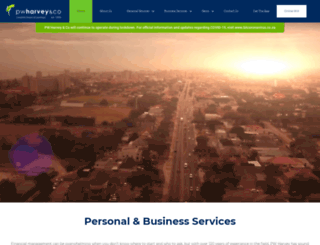 pwharvey.co.za screenshot