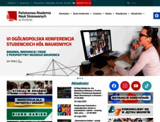 pwsz.krosno.pl screenshot