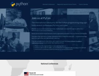 pycon.org screenshot