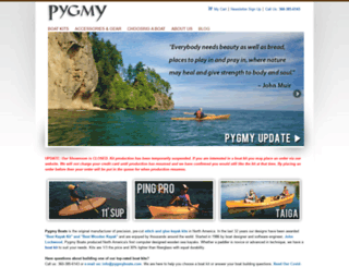 pygmyboats.com screenshot