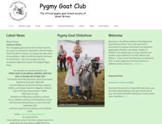 pygmygoatclub.org screenshot