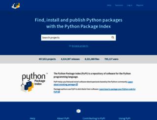 pypi.python.org screenshot