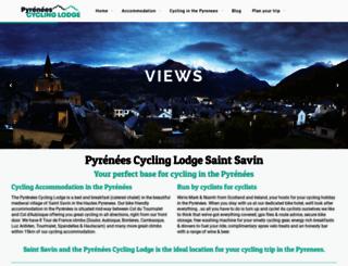 pyreneescyclinglodge.com screenshot