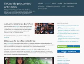 pyrotechnie.com screenshot