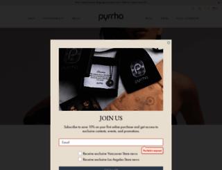 pyrrha.com screenshot