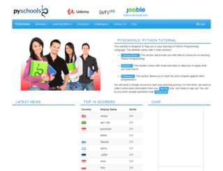pyschools.com screenshot