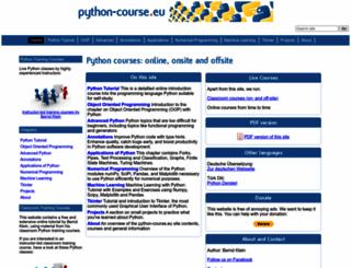python-course.eu screenshot