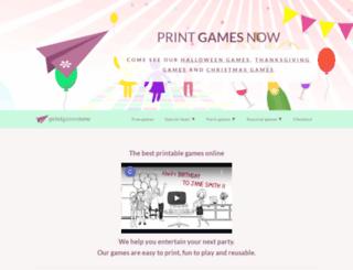 python-printable-games.com screenshot