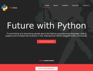 python.redinno.in screenshot