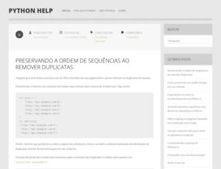 pythonhelp.wordpress.com screenshot