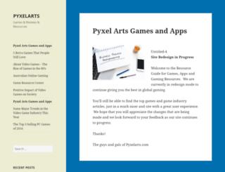 pyxelarts.com screenshot