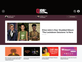 q106.iheart.com screenshot