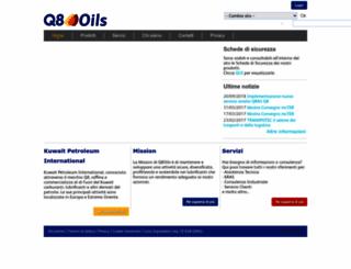 q8oils.it screenshot
