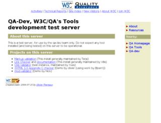 qa-dev.w3.org screenshot
