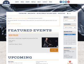 qa-floridatheatre.ticketforce.com screenshot