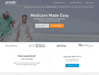 qa.ehealthmedicare.com screenshot