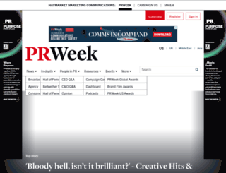 qa.prweek.com screenshot