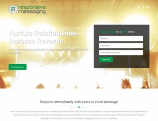 qa.responsivemessaging.com screenshot