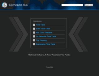 qa.sqtimetable.com screenshot