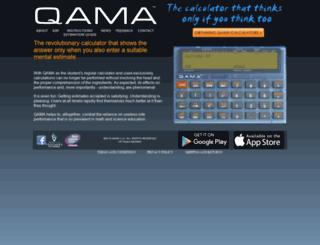 qamacalculator.com screenshot