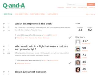 qanda.sofarider.com screenshot