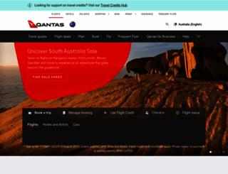 qantas.com.au screenshot
