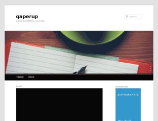 qaperup.wordpress.com screenshot