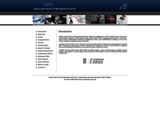 qasms.qau.edu.pk screenshot